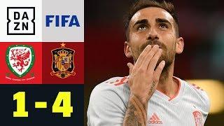 Doppelpacker Paco Alcacer ist einfach in Form: Wales - Spanien 1:4 | Testspiel | DAZN Highlights