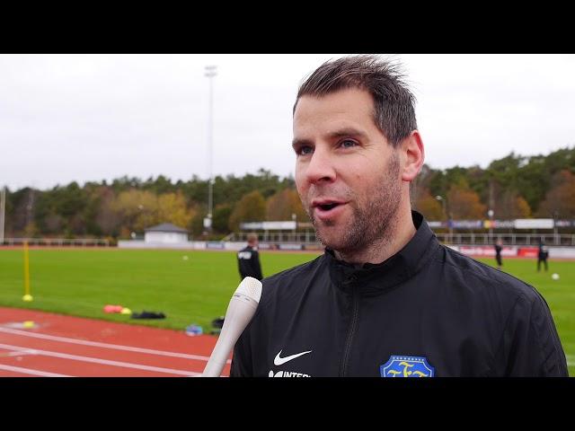 Stefan Rodevåg inför Falkenbergs FF   Frej Täby, Superettan 2017
