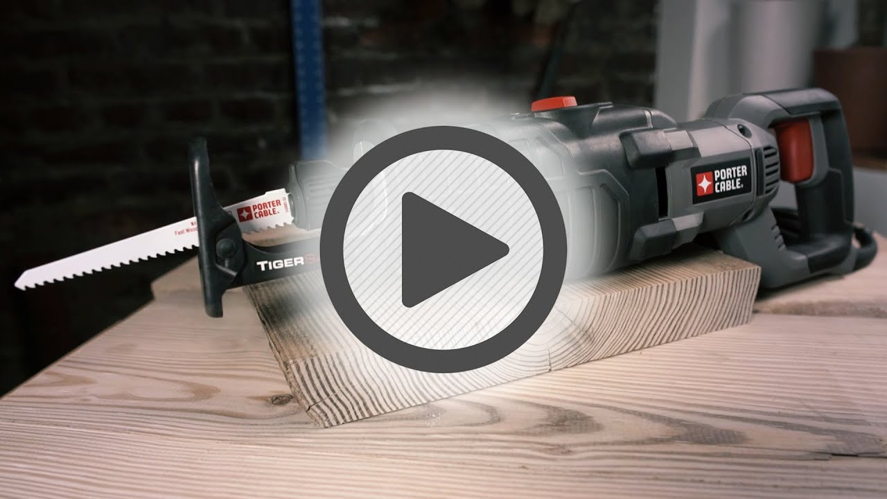 Porter Cable 7.5 Amp Reciprocating Saw- Pep Boys - YouTube