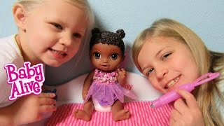 BABY ALIVE Face Paint Fairy Doll Unboxing + Playing + Feeding + Changing with Maddy + Elsa + Heather