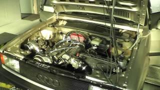"""Audi 80 Quattro 20V Turbo Garrett GT40 on Dyno """"www.dh-carcenter.de""""518KW-705PS"""