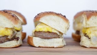 Egg and Sausage Breakfast Sandwich Recipe | Eat the Trend