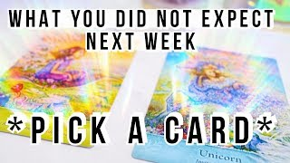PICK A CARD! 🔮 WHAT YOU DID NOT EXPECT HAPPENING TO YOU NEXT WEEK🍀(Week 47, 2018) thumbnail