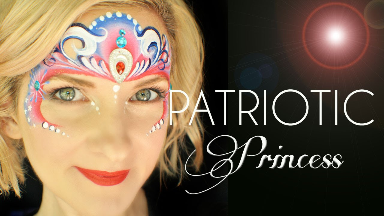 Patriotic Princess Face Painting Tutorial Youtube