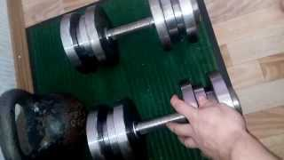 Гантели АТЛАНТ разборные 25 кг Обзор