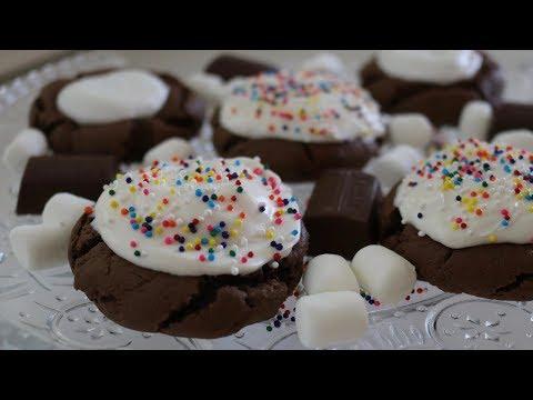 Chocolate Marshmallow Cookies | Baking With Josh & Ange