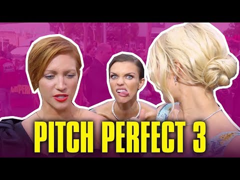 Ruby Rose Interrupts Brittany Snow & Anna Camp's   Pitch Perfect 3 Cast Funny Moments