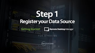 RDM - Step 1: Register your Data Source