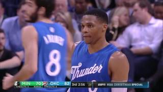 Russell Westbrook 31 points vs Timberwolves (25/12/2016)