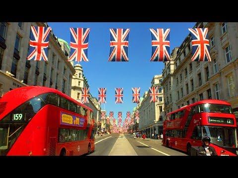 LONDON WALK   Union Jack Flags on Regent Street for Royal Wedding of Harry and Meghan   England