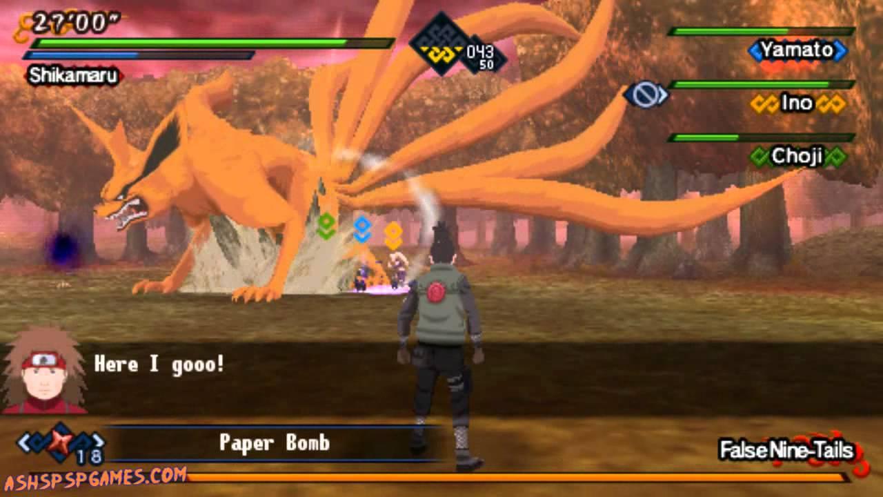 Naruto Shippuden: Kizuna Drive - PSP - Ch. #16. The False Nine-Tails Appears! [1/2] - YouTube