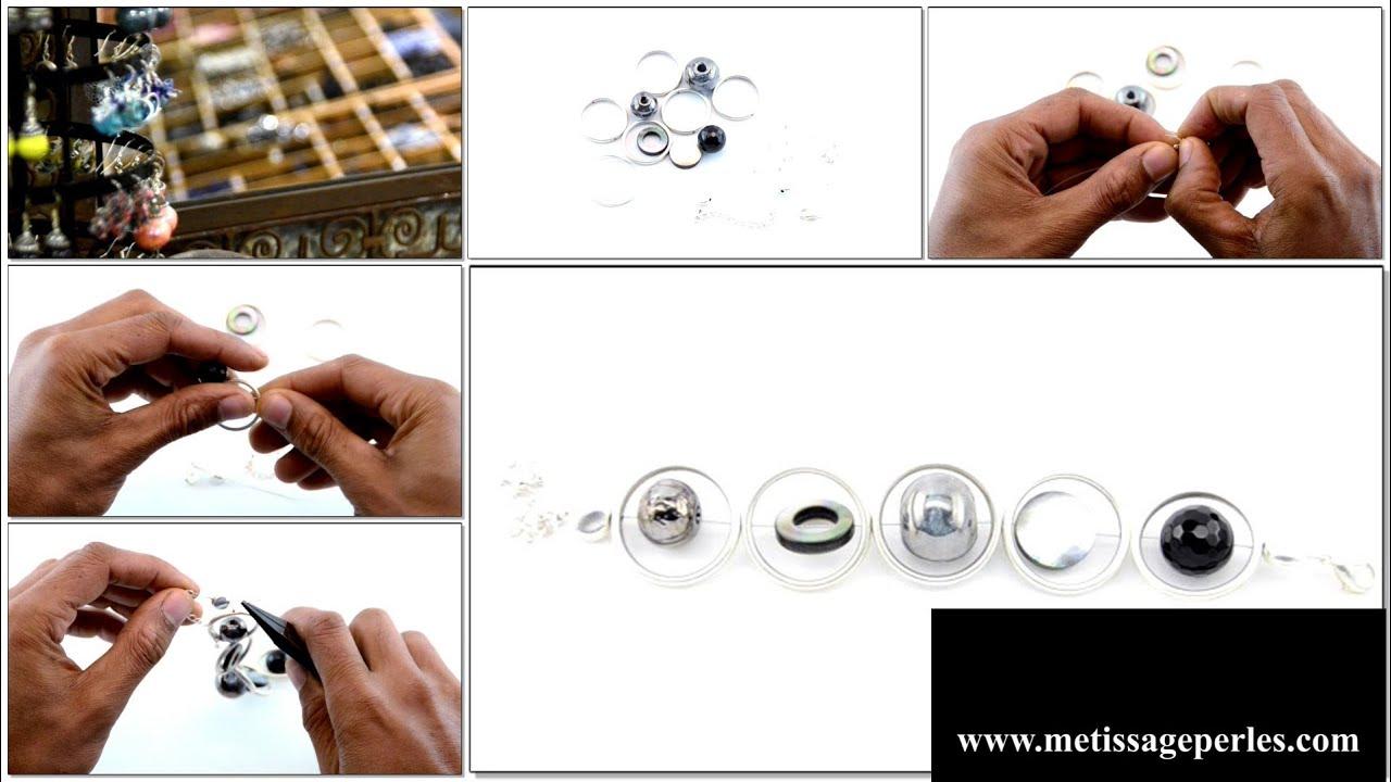 comment cr er des bijoux en perles sur fil c bl bracelet youtube. Black Bedroom Furniture Sets. Home Design Ideas