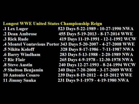 Longest WWE United States Championship Reign