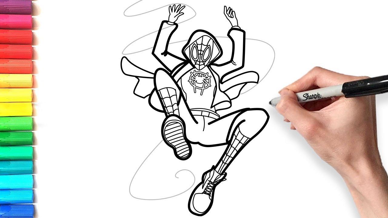 Spider Man Miles Morales Coloring Pages Desenhos Para Colorir