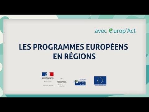 Les programmes européens en regions