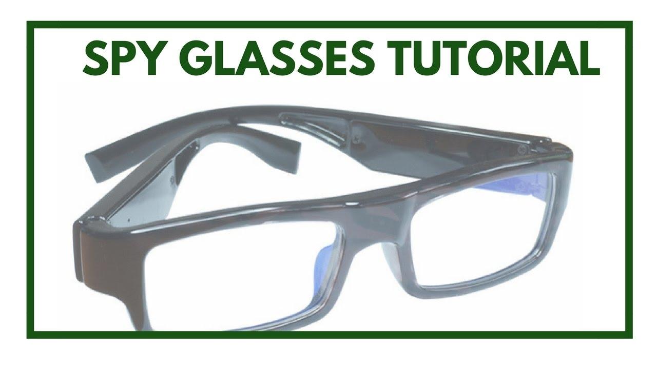 44fe5bbc2d Spy Glasses Camera Tutorial - YouTube
