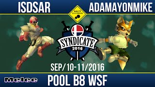 SYN2016 - Isdsar (Cpt. Falcon) Vs Adamayonmike (Fox) - SSBM Pool B8 WSF