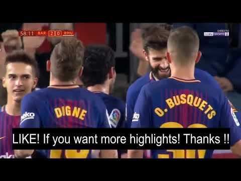 Barcelona vs Murcia 5 - 0   Goals & Highlights HD   29 Nov 2017