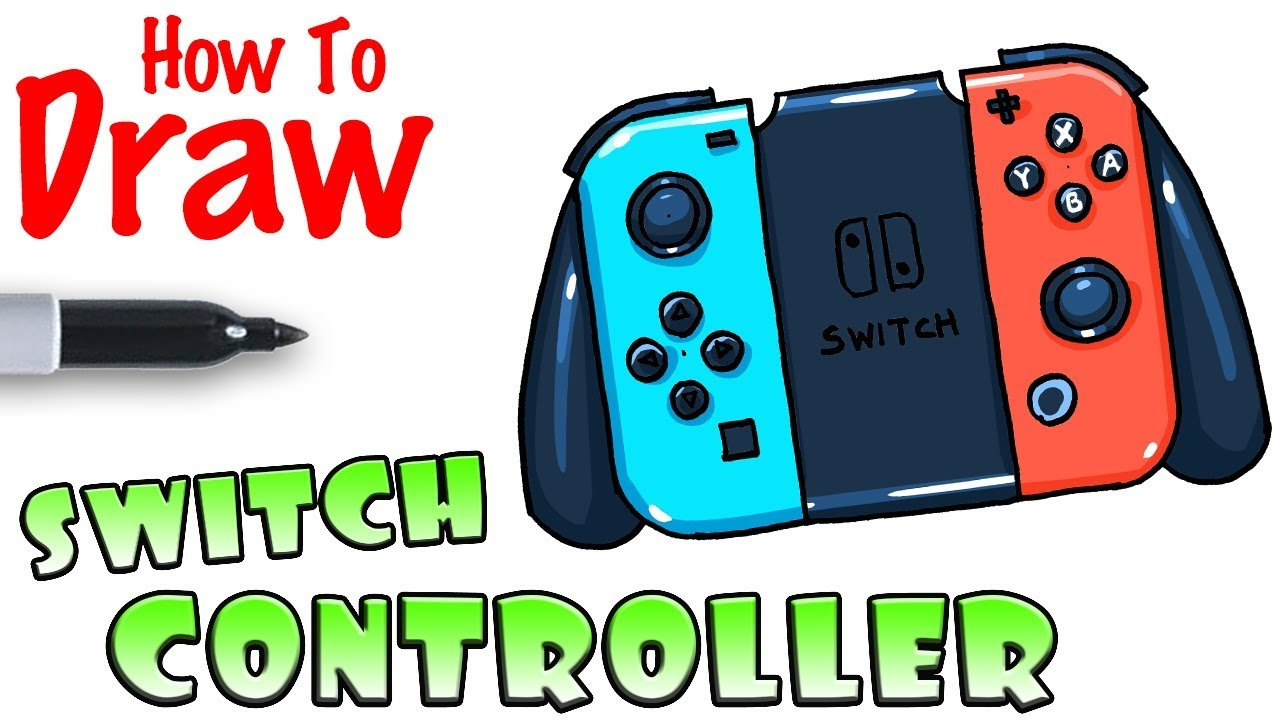 How To Draw The Nintendo Switch Controller Youtube