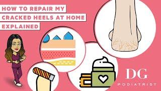 How to repair cracked heels at home| Cracked heels series | The Foot Scraper: DG Podiatrist