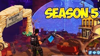 NEW FORTNITE BATTLE ROYALE MAP THEME 'LEAKED' (Fortnite Saison 5 NEW WILD WEST THEME MAP LEAK)