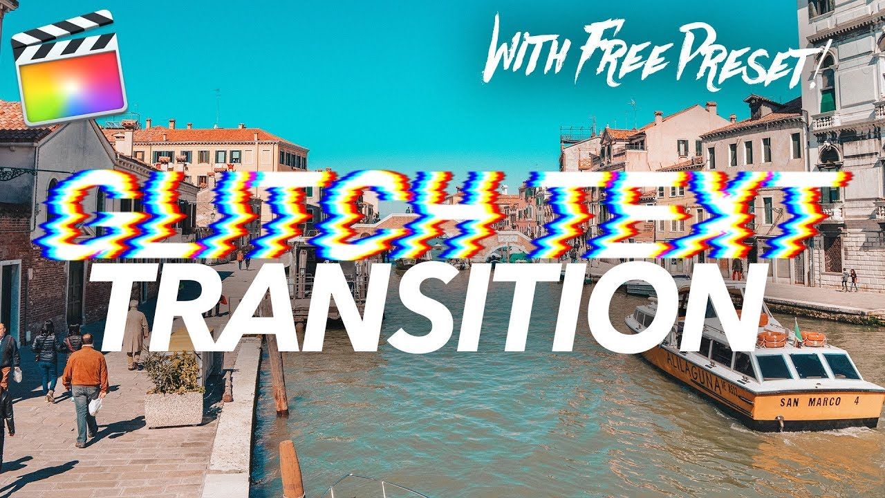 NEW GLITCH TEXT TRANSITION (with FREE preset) - Final Cut Pro Tutorial