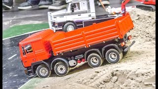 RC Trucks In Motion On An Exhibition Display!
