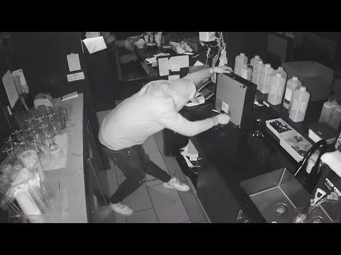 Caught on cam: Smash and grab thief in Toronto gets a taste of his own medicine