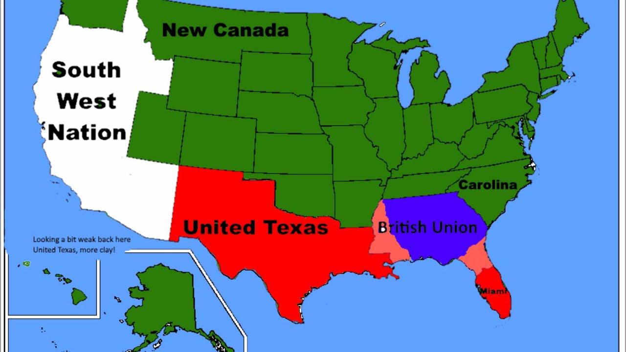 Alternative Future Of North America Part II YouTube - Future map of north america