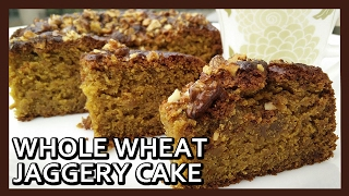 Eggless Whole Wheat Jaggery Cake | Wheat Cake Recipe | Airfryer Recipes by Healthy Kadai