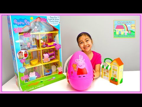 Peppa Pig Toys House & Surprise Egg Opening Toy Surprises for Kids Toy Review