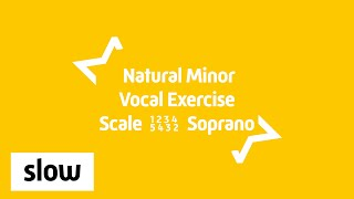 Soprano | Vocal Exercise | Natural Minor Scale | 1 2 3 4 5 4 3 2 1 - A3-C6