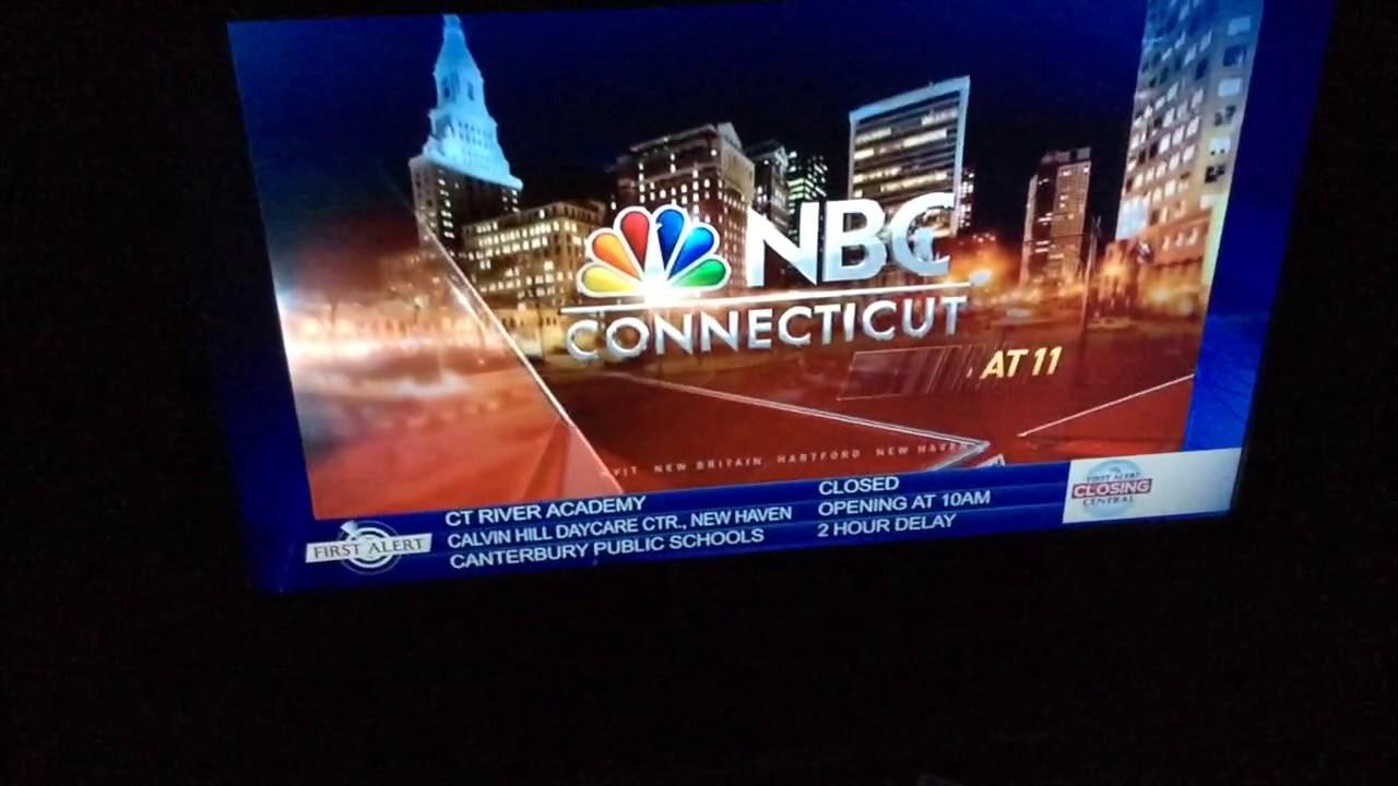 WVIT: NBC Connecticut News at 11pm Weather Alert open -- 03/14/17