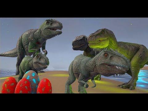 Roubando Ovos da Familia T-Rex, a Vingança Do Giganotossaurus! Ark Survival evolved (PT/BR)