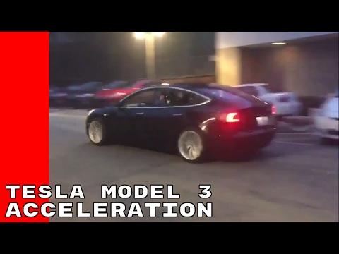 Candidate Version Of Tesla Model 3 Acceleration