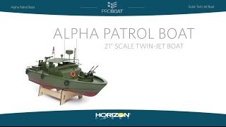 Load Video 1:  Pro Boat?? 21-inch Alpha Patrol Boat RTR
