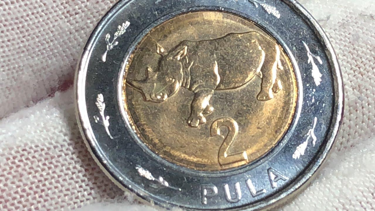Botswana 2 Pula coin 2013 - YouTube
