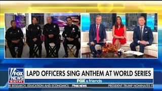 LAPD Officers Who Sang Anthem at World Series Take Subtle Jab at NFL Flag-Sitters