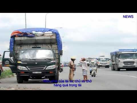 Mức phạt của lái xe, chủ xe chở hàng quá trọng tải