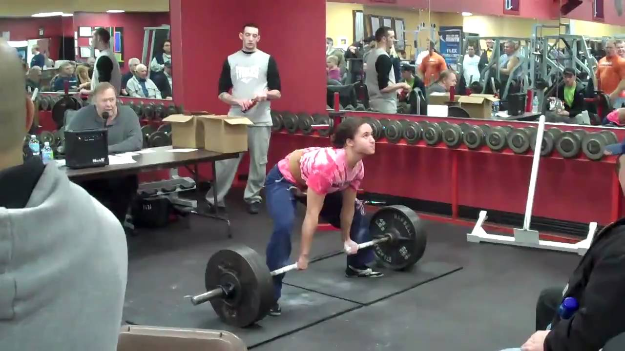16 Year Old Girl State Record Deadlift