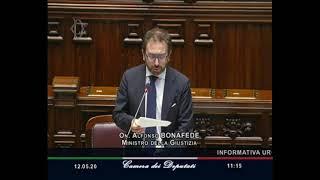 Coronavirus, l'informativa urgente del ministro della giustizia Bonafede