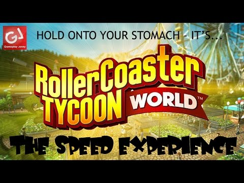 """I HOPE YOU'VE NOT EATEN"" - Accelerator Coaster! Let's Play RollerCoaster Tycoon World Beta (Badly) 