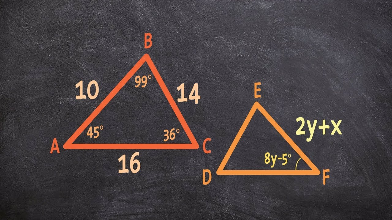 Geometry How To Determine X And Y Using Congruent Triangles 20161123