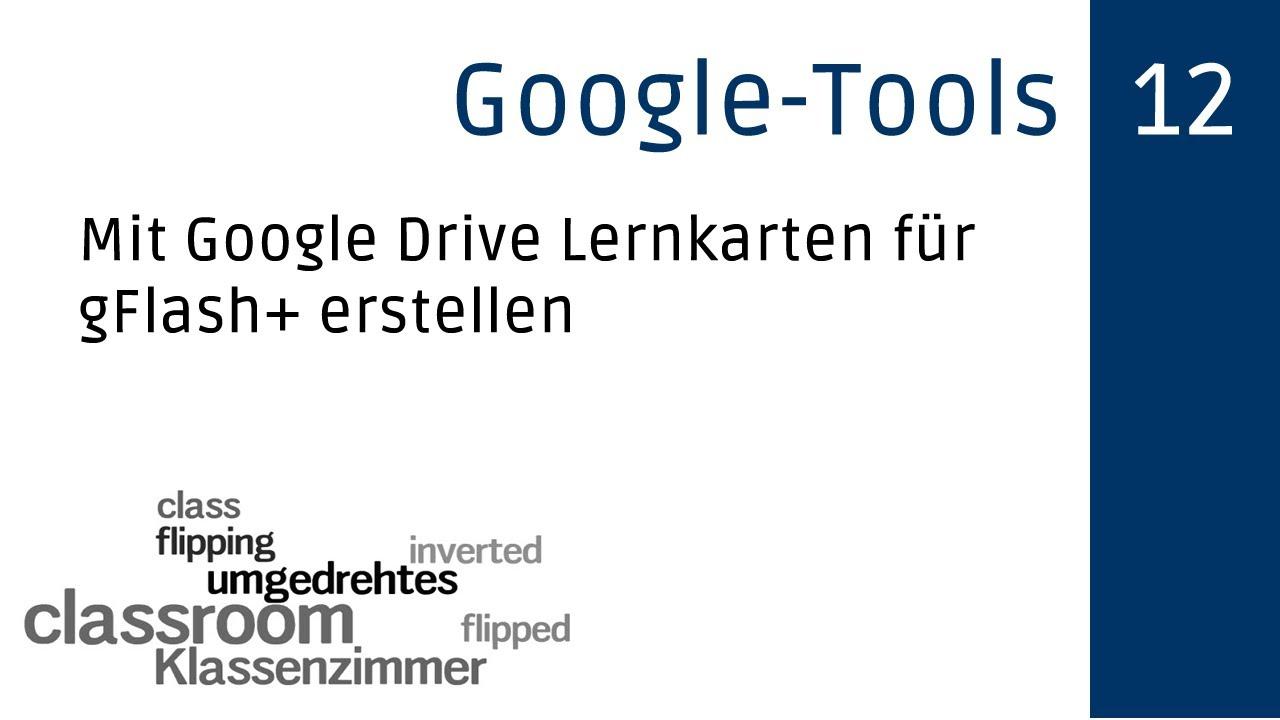 Lernkarteien mit Google Drive und gFlash+ erstellen - YouTube