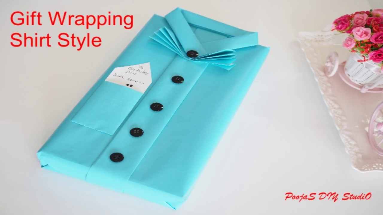 Gift Wrapping Ideas Shirt Style Gift Wrapping Shirt Design Diy