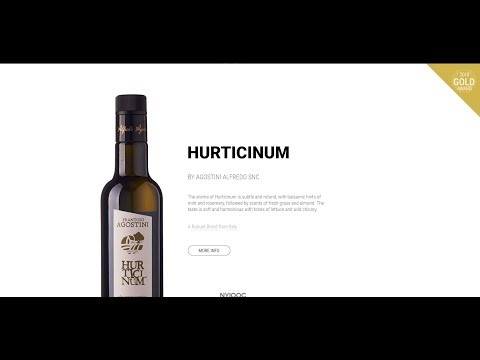 """Hurticinum"" del Frantoio Agostini a gold metal winner at 2018 NYIOOC World Olive Oil Competition"