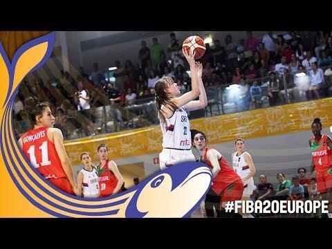Serbia v Portugal - Full Game - Classification 9-12 - FIBA U20 Women's European Championship 2017