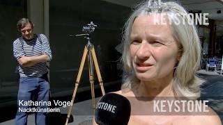 Splitternackt mitten in der Stadt: Ist das noch Kunst? - Biel - Nacktkünstler -Nacktfestival