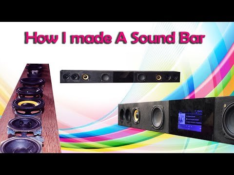 How i made my sound bar for my sound system.