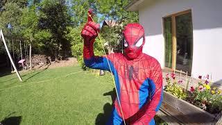 TUTO YOYO FREESTYLE SPIDERMAN TREMPOLINE SUPERHEROS LTT NERF